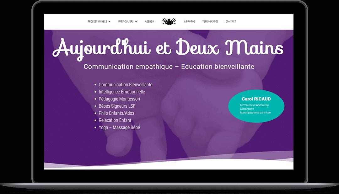 Création de site web - Alexis Guibert par ARCA DESIGNER